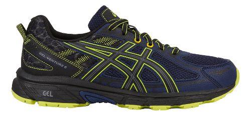 Mens ASICS GEL-Venture 6 Trail Running Shoe - Navy/Yellow 7.5