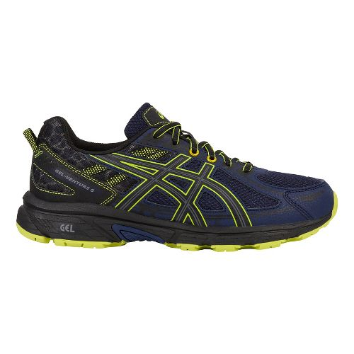 Mens ASICS GEL-Venture 6 Trail Running Shoe - Navy/Yellow 7.5