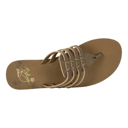 Womens Cobian Aloha Sandals Shoe - Chocolate 7