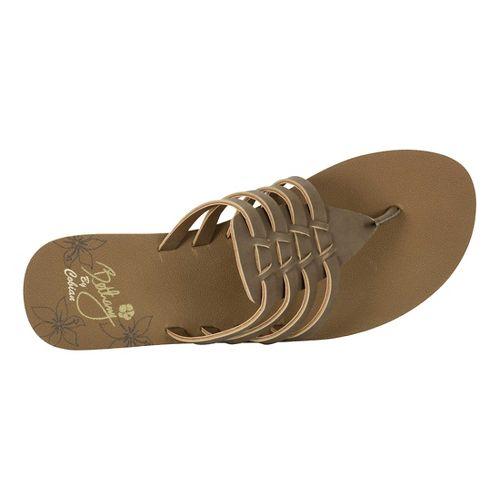 Womens Cobian Aloha Sandals Shoe - Chocolate 9