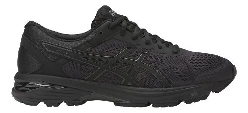 Mens ASICS GT-1000 6 Running Shoe - Black/Black 15
