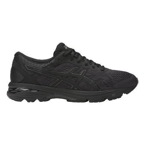 Mens ASICS GT-1000 6 Running Shoe - Black/Black 7.5