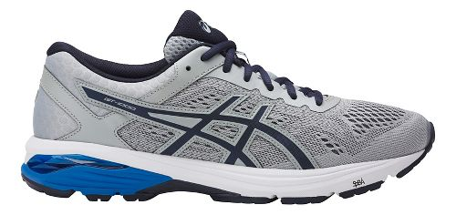 Mens ASICS GT-1000 6 Running Shoe - Grey/Blue 8.5