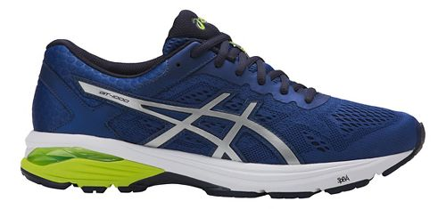 Mens ASICS GT-1000 6 Running Shoe - Blue/Silver 8