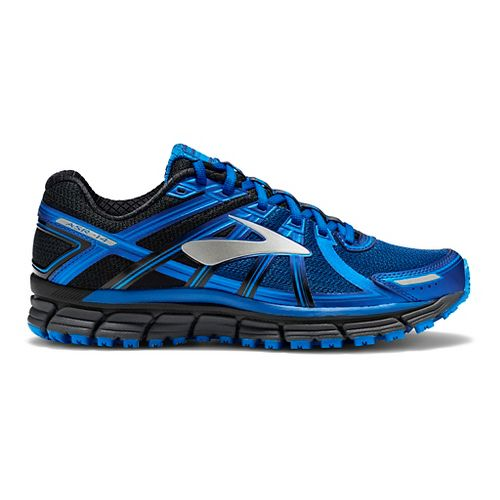 Mens Brooks Adrenaline ASR 14 Trail Running Shoe - Black/Blue 14