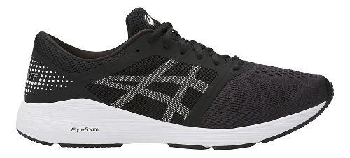 Mens ASICS Roadhawk FF Running Shoe - Black/White 15