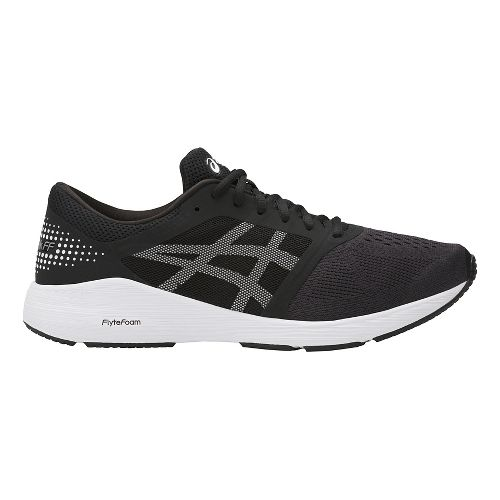 Mens ASICS Roadhawk FF Running Shoe - Black/White 15