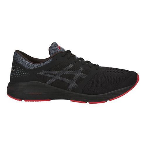 Mens ASICS Roadhawk FF Running Shoe - Black/Carbon/Red 9