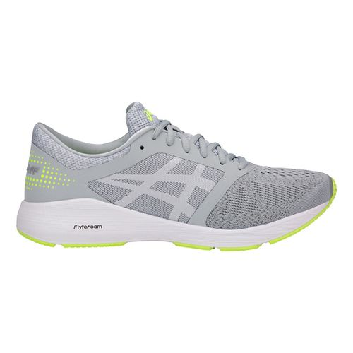 Mens ASICS Roadhawk FF Running Shoe - Grey/White/Yellow 6.5
