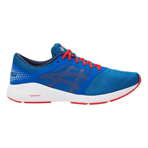 Mens ASICS Roadhawk FF Running Shoe - Blue/Red 9.5