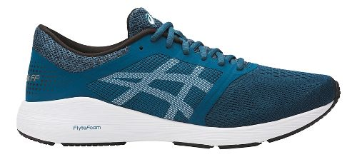 Mens ASICS Roadhawk FF Running Shoe - Teal/White 12