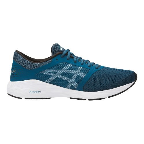 Mens ASICS Roadhawk FF Running Shoe - Teal/White 10.5