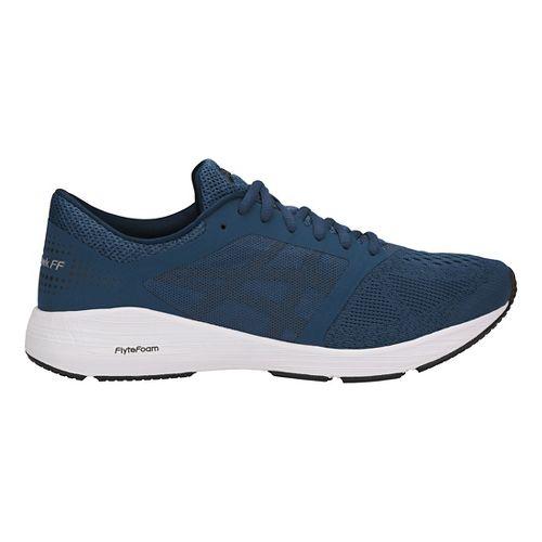 Mens ASICS Roadhawk FF Running Shoe - Blue/Black/White 11.5