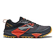 Mens Brooks Cascadia 12 GTX Trail Running Shoe - Grey/Orange 10.5