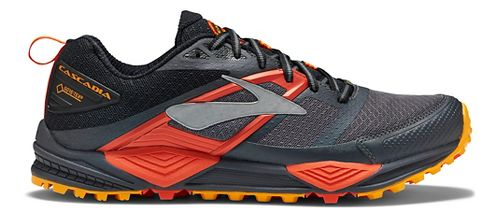 Mens Brooks Cascadia 12 GTX Trail Running Shoe - Grey/Orange 14