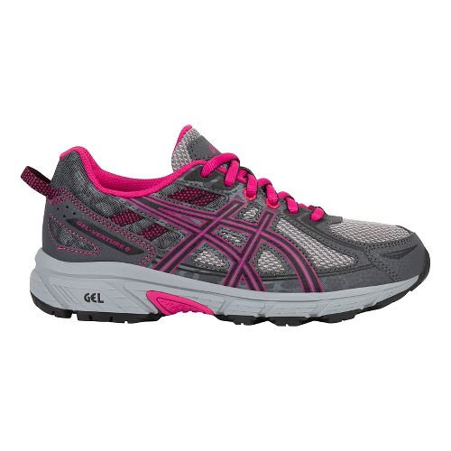ASICS GEL-Venture 6 Running Shoe - Carbon/Pink 3.5Y