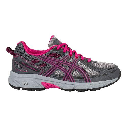 ASICS GEL-Venture 6 Running Shoe - Carbon/Pink 4.5Y