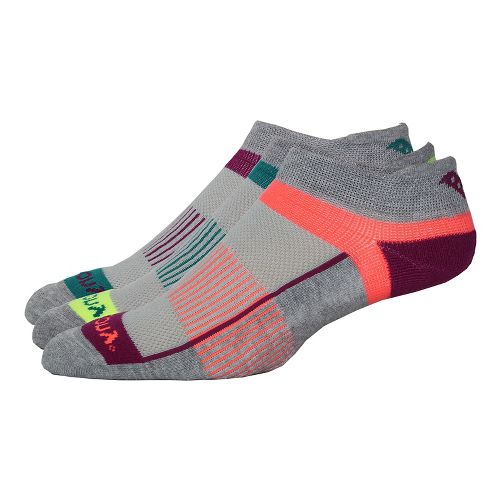 Saucony Inferno No Show Tab 9 Pack Socks - Grey Heather S