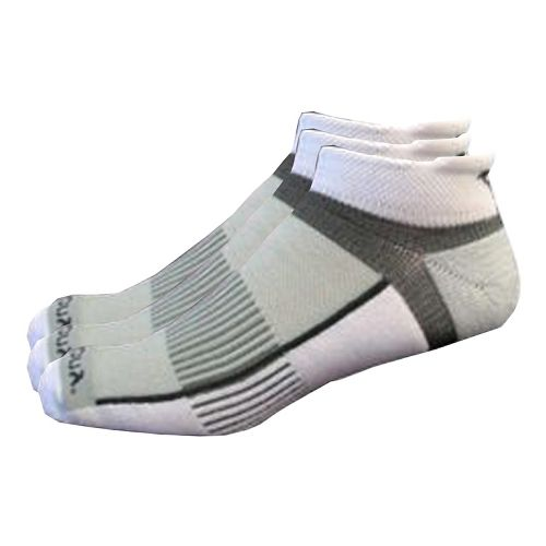 Saucony Inferno No Show Tab 9 Pack Socks - White/Grey M