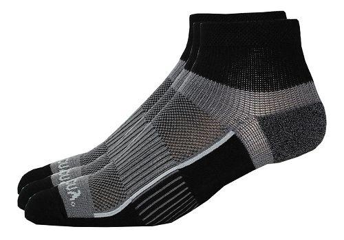 Saucony Inferno Quarter 9 Pack Socks - Black M