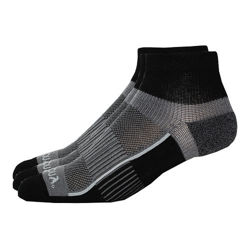 Saucony Inferno Quarter 9 Pack Socks - Black L