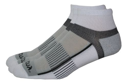 Saucony Inferno Quarter 9 Pack Socks - White S