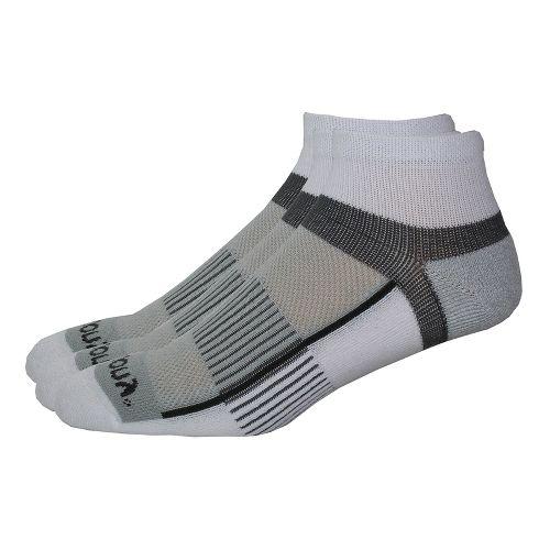 Saucony Inferno Quarter 9 Pack Socks - White M