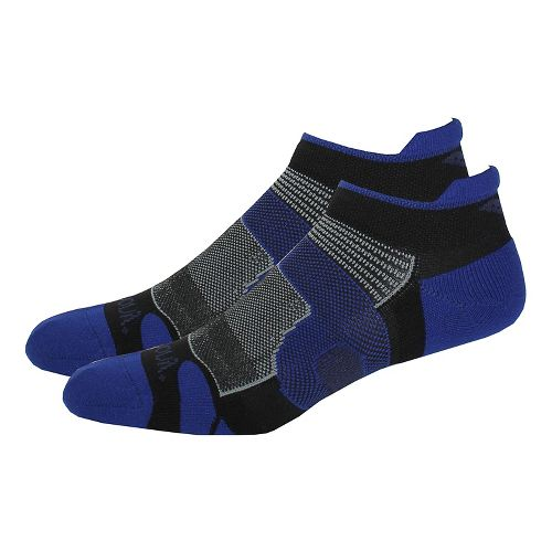 Saucony XP Light Cushion 6 Pack Socks - Black/Blue M