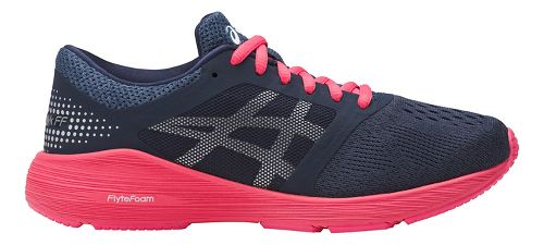 Kids ASICS Roadhawk FF Running Shoe - Navy/Pink 5Y