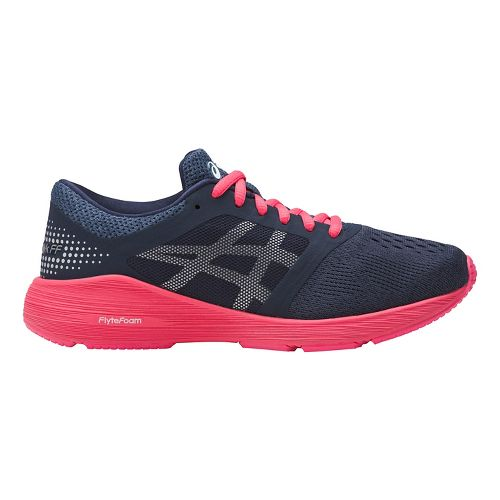 ASICS Roadhawk FF Running Shoe - Navy/Pink 5Y