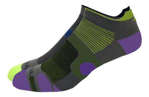 Saucony XP Superlite 6 Pack Socks - Grey/Citron Assorted S