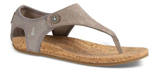 Womens Ahnu Serena Cork Sandals Shoe - Grey 8