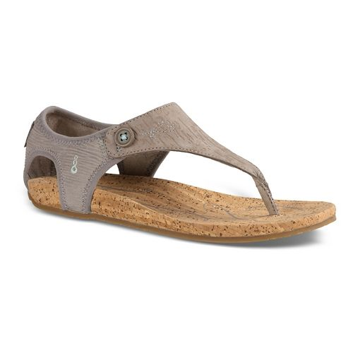 Womens Ahnu Serena Cork Sandals Shoe - Grey 7