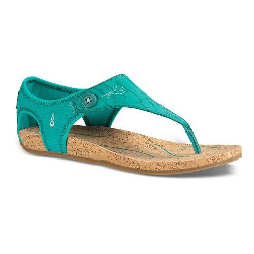 Womens Ahnu Serena Cork Sandals Shoe - Teal 7