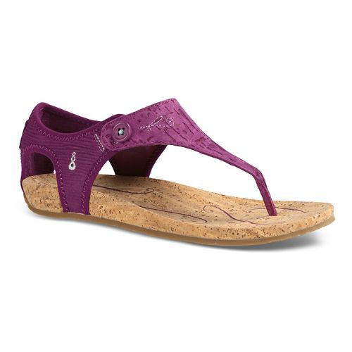 Womens Ahnu Serena Cork Sandals Shoe - Grey 10.5
