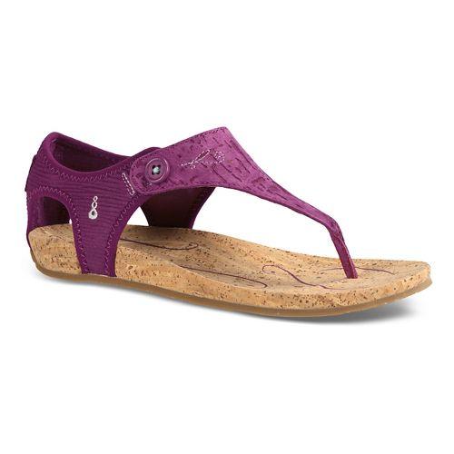 Womens Ahnu Serena Cork Sandals Shoe - Teal 7.5