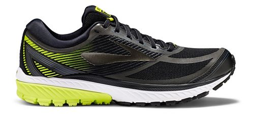 Mens Brooks Ghost 10 GTX Running Shoe - Black/Lime 10