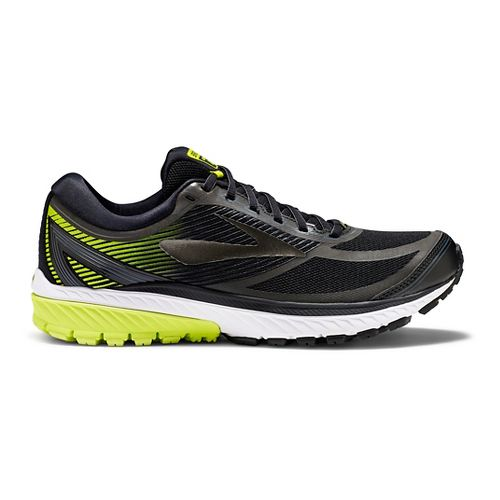 Mens Brooks Ghost 10 GTX Running Shoe - Black/Lime 11.5