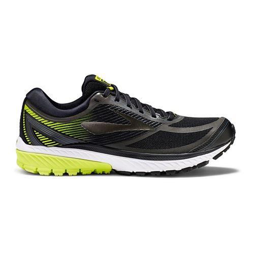 Mens Brooks Ghost 10 GTX Running Shoe - Black/Lime 9.5