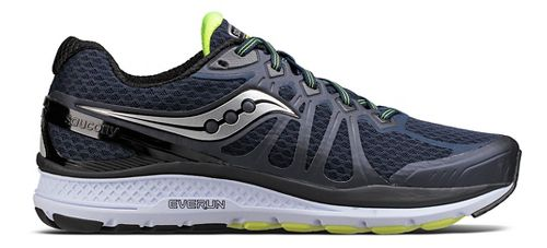 Mens Saucony Echelon 6 Running Shoe - Navy/Citron 9