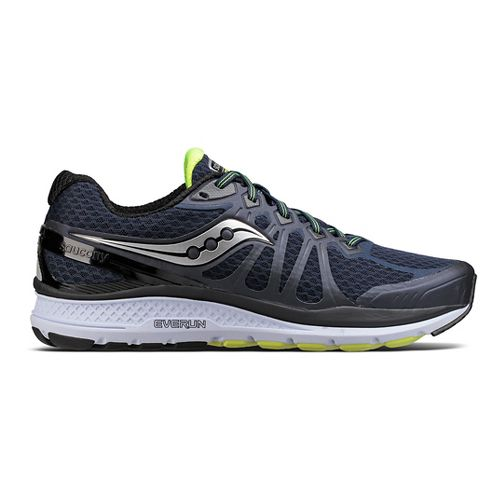 Mens Saucony Echelon 6 Running Shoe - Navy/Citron 10.5