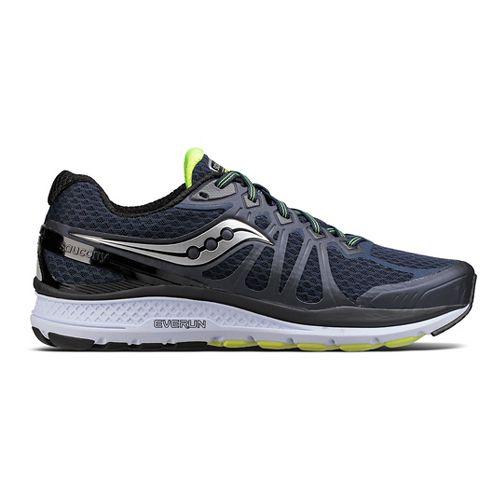 Mens Saucony Echelon 6 Running Shoe - Navy/Citron 8