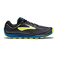 Mens Brooks PureGrit 6 Trail Running Shoe - Black/Neo 11