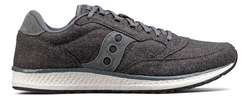 Mens Saucony Freedom Runner Wool Casual Shoe - Charcoal 6.5