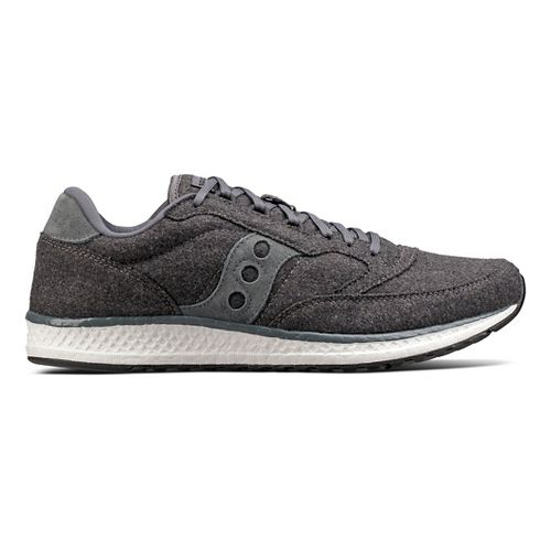 Mens Saucony Freedom Runner Wool Casual Shoe - Charcoal 15