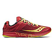 Mens Saucony Type A8 Racing Shoe - Red/Citron 13