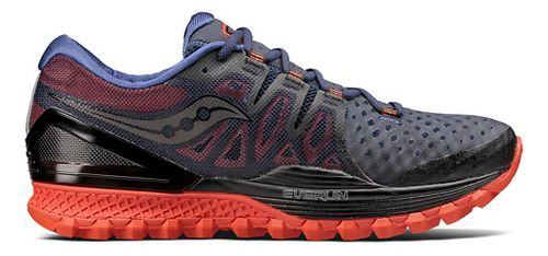 Mens Saucony Xodus ISO 2 Trail Running Shoe - Black/Orange 12