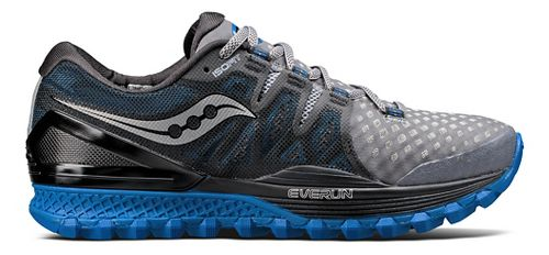 Mens Saucony Xodus ISO 2 Trail Running Shoe - Grey/Blue 8.5