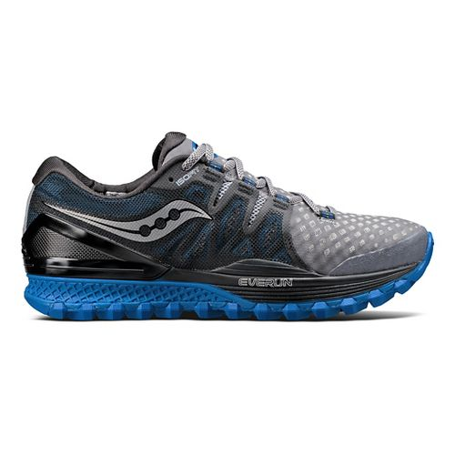 Mens Saucony Xodus ISO 2 Trail Running Shoe - Grey/Blue 12