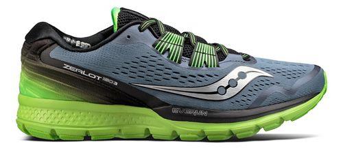 Mens Saucony Zealot ISO 3 Running Shoe - Grey/Slime 10